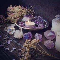 Sacred Space, Purple Crystal Light Energy // Crystal Fairy Vibes