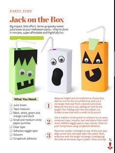 Halloween Juice Boxes - cute for Montessori class