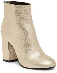 bef5eb38c92 Kenneth Cole New York Caylee Patent Leather Metallic Boot - Soft Gold