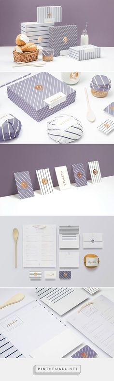 Food infographic Bakery Brand Identity by Anagrama for Violeta