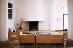 Villa Lena, Tuscany - Custom sofas and chairs were designed using reclaimed materials by Demory.