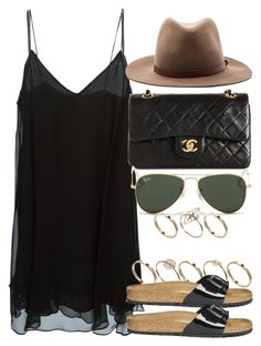 """Style #8484"" by vany-alvarado ❤ liked on Polyvore featuring H&M, Acne Studios, rag & bone, ASOS, Birkenstock, Chanel and Ray-Ban"