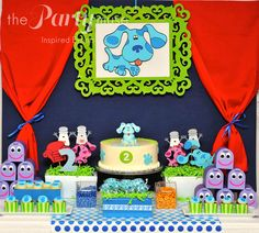 Amazing Blue's Clues Party.  See more party ideas at CatchMyParty.com.  #lbluescluespartyideas