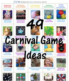 Carnival Game Ideas!! Either for booth ideas or a back to school carnival would get TONS of people.