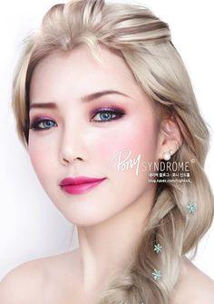 Disney Frozen : Elsa Make-up tutorial / how to do via PONY Syndrome