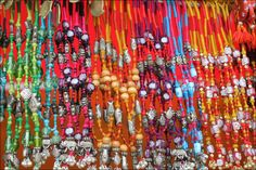 Thread and bead jewellery from Raiasthan. India.