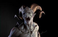 Katon Callaway Art: God of War 3 (Weißt du, es ist keine Skulptur, sondern … - Tattoo Pics Ange Demon, Demon Art, Arte Horror, Horror Art, 3d Fantasy, Dark Fantasy, God Of War, Creature Feature, Creature Design