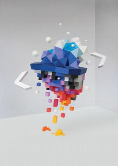 Computer Arts Magazine Cover by Motherbird, via Behance