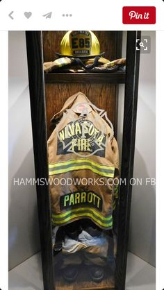 Firefighter Turnout Gear Memorial Case Shared by LION Firefighter Paramedic, Firefighter Decor, Volunteer Firefighter, Firefighter Clipart, American Firefighter, Firefighter Wedding, Fire Dept, Fire Department, Rambo