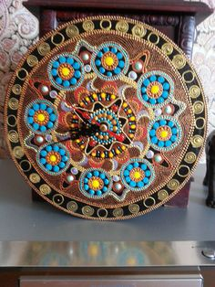 Mandala Financial Independence wall clock unique by ZhukStudio