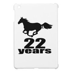 #22 Years Birthday Designs Cover For The iPad Mini - #giftidea #gift #present #idea #number #22 #twenty-two #twentytwo #twentysecond #bday #birthday #22ndbirthday #party #anniversary #22nd