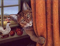 Cat Behind the Curtain, Lowell Herrero