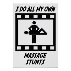 De Stunts van de massage Posters