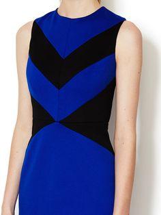 Elizabeth Colorblocked Ponte Sheath Dress by Cynthia Steffe at Gilt