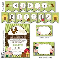 Digital Printable Editable Three Little Pigs Birthday Party Package for Boys or Girls - Instant Download Files on Etsy, $25.00