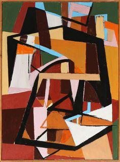 thunderstruck9:  Knud Nielsen (Danish, 1916–2008), Composition, 1950. Oil on canvas, 136 × 100 cm.
