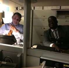 The view from my (@jeff.bernthal ) desk.  Good thing I haven't ripped anyone off.  @mike_colombo would come after me!  Derrion Henderson always has a smile and it's a great way to start my workday by having a few minutes to chat with these two!