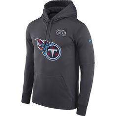 0a03581a26e Men s Tennessee Titans Nike Anthracite Crucial Catch Performance Hoodie -  Medium Nfl 49ers