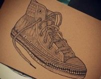 CONVERSE SHOE ILLUSTRATIONS