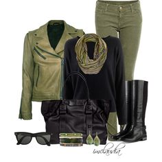 Colored Leather Jacket, created by imclaudia-1 on Polyvore