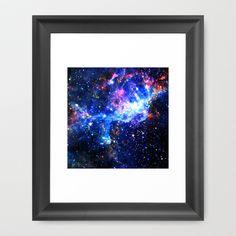 Galaxy Framed Art Print by Matt Borchert - $34.00