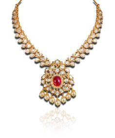 #Uncut Diamond necklace - Pachi work