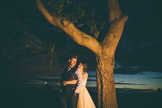 Bride & Groom under a tree at sunset. Hortington House Wedding, York, Yorkshire.