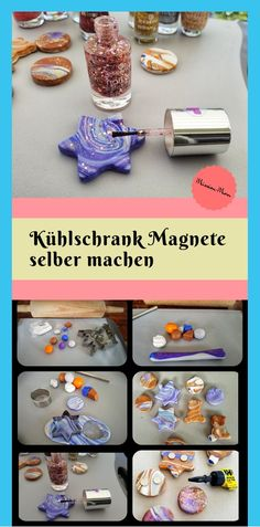 DIY magnets made of polymer clay - make a great gift with children .-DIY Magnete aus Fimo-ein tolles Geschenk mit Kindern basteln * Mission Mom % DIY polymer clay magnets – make a great gift with children * Mission Mom% - Diy Christmas Gifts For Boyfriend, Diy Gifts For Girlfriend, Diy Gifts For Dad, Diy Gifts For Friends, Christmas Diy, Polymer Clay Magnet, Clay Magnets, Cute Diy Crafts, Pbs Kids