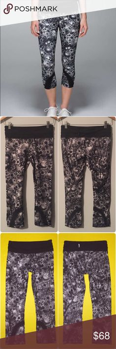 Lululemon run inspire crops Lululemon flowabunga run inspire crops, size 4, perfect condition with no flaws. Bundle to save ❤️ lululemon athletica Pants Ankle & Cropped
