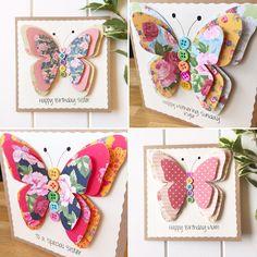 Lots of beautiful handmade butterflies