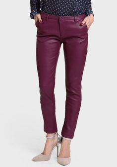 Wren Faux Leather Pants In Plum at #Ruche @Ruche