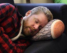 Perché.  Log Pillow | The Gadget Flow