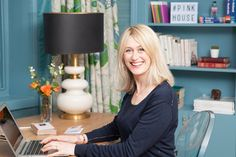 """Emily's best advice? """"Make sure your sofa can fit down the stairs BEFORE you have it expensively upholstered."""""""
