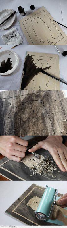 Reaproveitando restos de madeira.