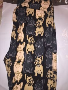 LuLaRoe Leggings TC Tall and Curvy French Bulldogs- RIGHT SIDE UP! HTF Unicorn  #LuLaRoe