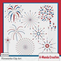 Fireworks 4th of July Themed Commercial Use Clip Art on Etsy, $3.00
