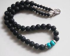Men's Necklace Men's Jewelry  Men's Black by FerozasjewelryForMen, $35.00