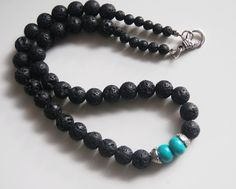 Men's Necklace Men's Jewelry  Men's Black by FerozasjewelryForMen, $35.00