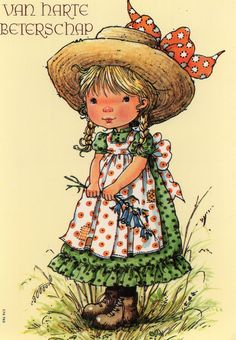 Mary May Vintage  Postcard with cute girl 70s by CuteEyeCatchers on Etsy
