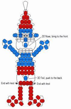 Papa Smurf pony bead pattern
