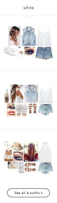 """""""white"""" by burusa2 ❤ liked on Polyvore featuring Gap, Casetify, Alice + Olivia, Hollister Co., adidas Originals, T By Alexander Wang, Miss Me, Valentino, Billabong and LASplash"""
