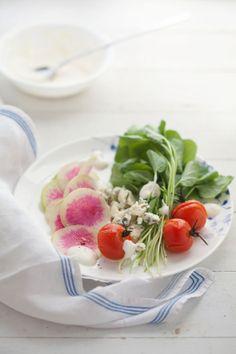 watermelon radish-  Beautiful salad