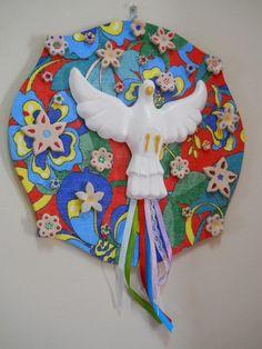 mandala divino espirito santo revestida de chita