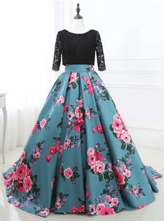 Cheap gown formal, Buy Quality evening dress directly from China pageant gowns Suppliers: elegant floral print evening dresses 2017 backless satin long women pageant gown formal prom party gown vestidos de festa Floral Prom Dresses, Prom Dresses Long With Sleeves, Half Sleeve Dresses, Cheap Prom Dresses, Half Sleeves, Dress Prom, Bride Dresses, Homecoming Dresses, Short Sleeves