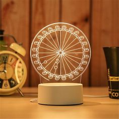 LED Lamp Creative LED Night Lights Novelty Illusion Night Lamp Illusion Table Lamp For Home Decorative Novelty Lamps, Novelty Lighting, Impression 3d, Lampe 3d, Desktop Lamp, Led Night Light, Night Lights, Light Led, Night Lamps