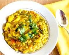 Recipe of the Week: Indian Vegetarian Yellow Lentil Squash Stew, made w/chana dhal. Easy Indian Lentil Curry Recipe Delicious with Rice or Chapatis Indian Lentil Curry, Lentil Recipes Indian, Indian Vegetable Curry, Indian Food Recipes, Asian Recipes, Savoury Dishes, Vegan Dishes, Vegan Recipes Easy, Veggie Recipes