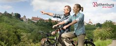 Rothenburg ob der Tauber -Bicycle routes - per Rick Steves . lots of bike paths Germany, can rent a bike and pedal around the country side