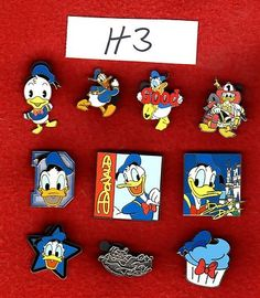 eBay Auction... Exact lot of 10 Disney Pins Featuring Donald Duck H03 5 20 25 50 #EasyNip