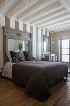 Antique, modern mix bedroom