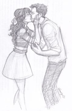 """""""'I love it when you dress up' He mumbled, glancing at the ground. She smiled, standing on the tips of her toes and kissed him square on the lips."""""""
